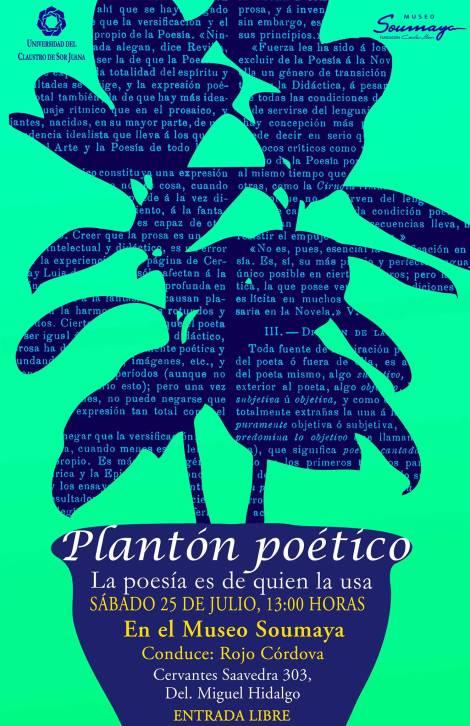 Plantón poético julio 2015